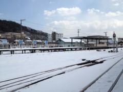 アントニオ小猪木 公式ブログ/釜石駅到着 画像1