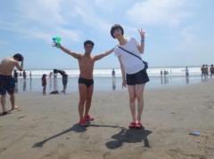 アントニオ小猪木 公式ブログ/由比ヶ浜で夫婦で写真! 画像1