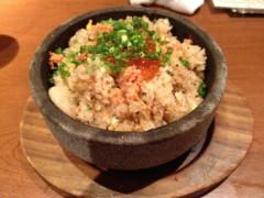アントニオ小猪木 公式ブログ/鮭といくらの石焼丼 画像1