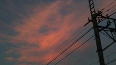 アントニオ小猪木 公式ブログ/赤い雲 画像1