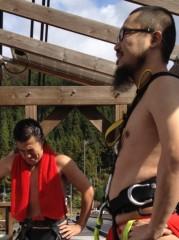 アントニオ小猪木 公式ブログ/バンジーに緊張感漂う二人 画像1