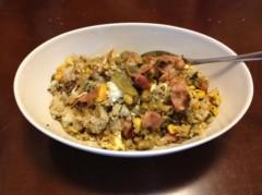 アントニオ小猪木 公式ブログ/ベーコン高菜枝豆で 画像1