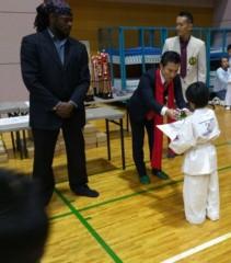 アントニオ小猪木 公式ブログ/空手選手権の表彰式 画像1