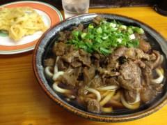 アントニオ小猪木 公式ブログ/朝から牛スジうどん! 画像1