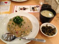 アントニオ小猪木 公式ブログ/後輩とチャーハン食べに 画像1