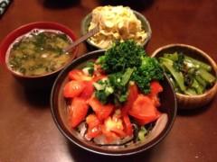 アントニオ小猪木 公式ブログ/真っ赤なトマト丼! 画像1