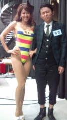 岡本夏生 公式ブログ/ハイレグばばあでございます( 笑)少し息切れしております(爆) 画像1