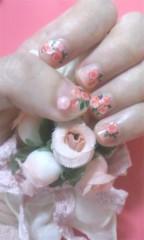 河井夕菜 公式ブログ/ピンクのお花柄のねいる〜〜♪してみたよお〜〜 画像1