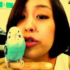 梓未來 公式ブログ/小鳥と友達 画像1