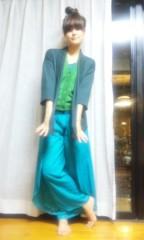 梓未來 公式ブログ/全身緑女 画像2