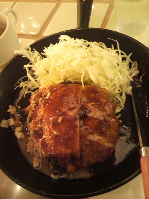 東京トンテキのハンバーグ定食
