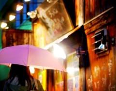 沖津賢一郎 プライベート画像/雨の写真 ラーメン屋ピンク