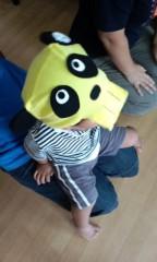 泉忠司 プライベート画像 手作りのドクロパンダ帽子