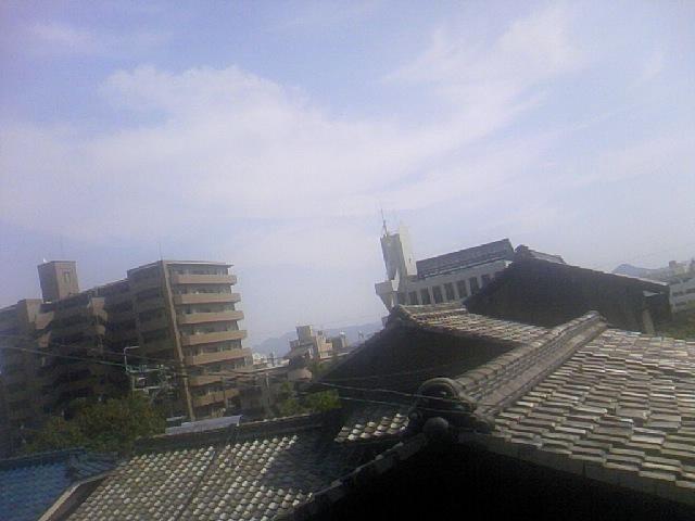 広島の高台にある友人宅から