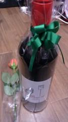 植田誠(うえはまだ) 公式ブログ/『野田ちゃんから戴いたあま〜いワイン。』 画像1