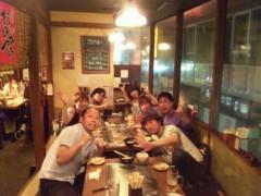 おかもとまり 公式ブログ/渋谷のお好み焼き屋での打ち上げ風景。 画像1