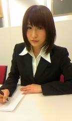 おかもとまり 公式ブログ/スーツで取材がありました 画像2