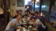 おかもとまり 公式ブログ/渋谷のお好み焼き屋での打ち上げ風景。 画像2