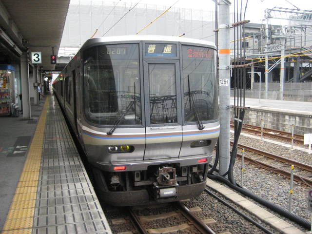 初めて見た西日本の車両!