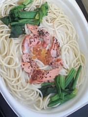小川賢勝 公式ブログ/ほうれん草とサーモンのクリームパスタ 画像1