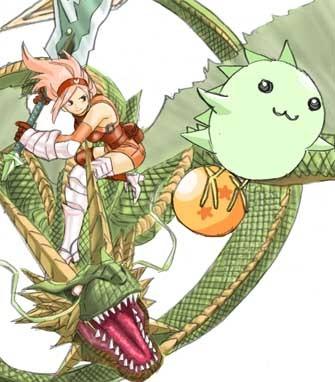 竜騎士とムイリュウ