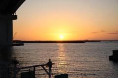 中地高子 プライベート画像 okinawa夕陽