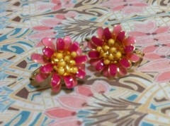 あずな 公式ブログ/お花のピアス 画像1