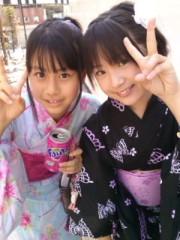 飯田ゆか 公式ブログ/浴衣で収録 画像1