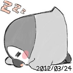 ぺそぎん 公式ブログ/また寝たー 画像1