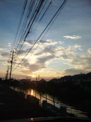 御秒奈々 公式ブログ/夕日 画像1