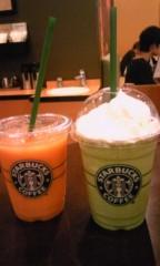 野原みのり 公式ブログ/マンゴーパッションティーフラペチーノ!!ちーのーー! 画像1