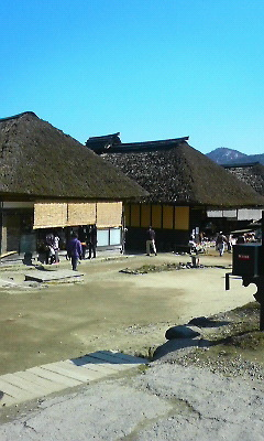 大内宿の風景。