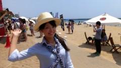 彩羽真矢 公式ブログ/中継ええなぁ@須磨海水浴場! 画像1