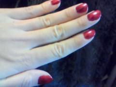 中村アン 公式ブログ/赤い爪 画像1