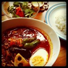 佐久田瑠美 公式ブログ/はじめてスープカリー! 画像1
