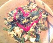 松川修也 公式ブログ/卵とホウレン草の炒め物 画像1
