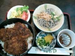 越田みゆ 公式ブログ/ソースかつ丼。 画像1