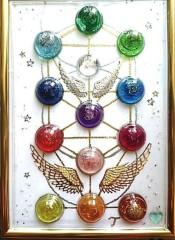 M.Rosemary 公式ブログ/#生命の樹オルゴナイト額 展示しています。 画像2