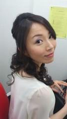 下村奈緒子 公式ブログ/キレイ系ハーフアップ♡なのにおでこが・・・(笑) 画像1