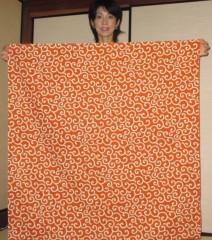 石川恵深 公式ブログ/唐草模様の風呂敷で包む 画像1