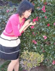 石川恵深 公式ブログ/恵深チャンのお庭のサザンカに…(*^_^*) 画像1