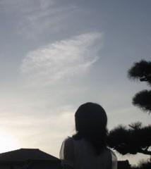石川恵深 公式ブログ/空を見てたら雲が… 画像1