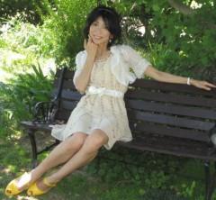 石川恵深 公式ブログ/ベンチで… 画像1
