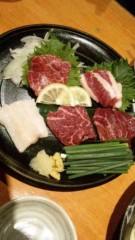 市川勝也 公式ブログ/博多の夜・馬刺しから 画像1