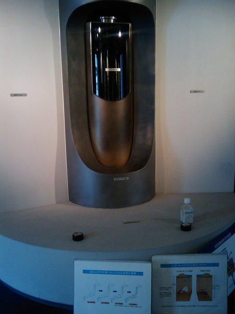 高レベル放射性廃棄物地層処分の模型