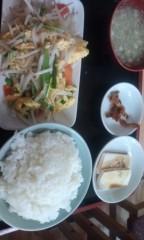 猫柳ロミオ 公式ブログ/ニラ玉モヤシ炒め定食 画像1