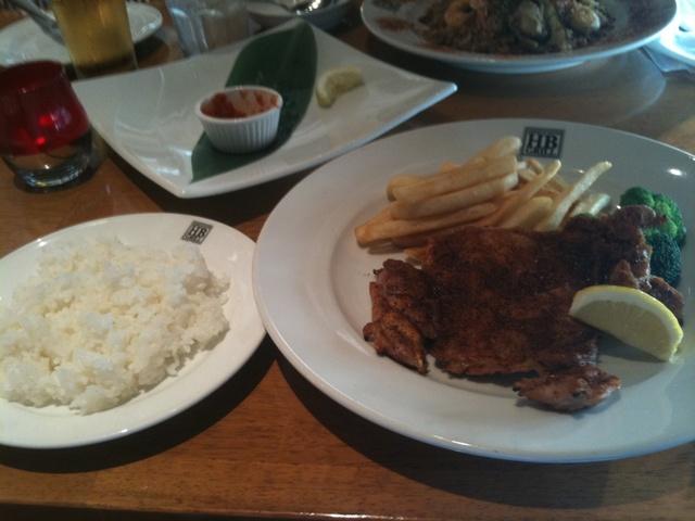 贅沢な昼食